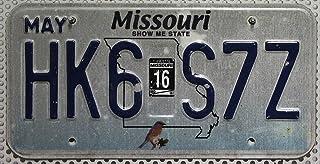 USA_Auswahl_von_Fahrzeugschildern Missouri Nummernschild USA Kennzeichen mit Motiv Kleiner Vogel Bluebird Motiv, Blechschild US License Plate KFZ Schild
