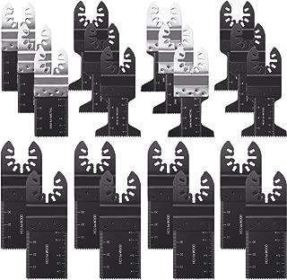 AMENVTOOL 20PCS Metal/Wood Oscillating Multitool Quick Release Saw Blades Fit Fein Multimaster Porter Cable Black & Decker Bosch Dremel Craftsman Ridgid Ryobi Makita Milwaukee Dewalt Rockwell