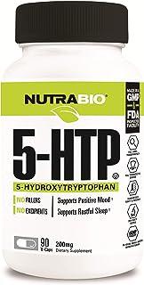 NutraBio 5-HTP Supplement (200mg, 90 Vegetable Capsules)