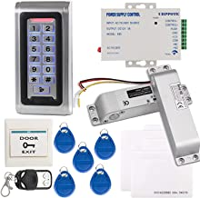 UHPPOTE Full Complete Stand-Alone Door Access Control System Kit with Electric Bolt Lock Power Supply Remote Control