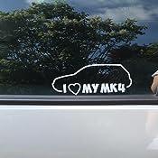 I Love My Mk4 20 X 8 Cm In 15 Farben Neon Chrom Sticker Aufkleber Auto