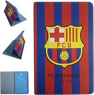 Galaxy Tab E 9.6-inch Tablet Case,FC Barcelona Football Team Club Pattern PU Leather Flip Case for Samsung Galaxy Tab E 9.6-inch SM-T560/T561/T565 (FC Barcelona)