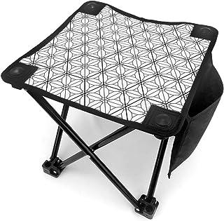 アウトドア 椅子 日本の飾りクミコに基づいています。白黒 アウトドア 椅子 ピクニック 釣り コンパクト イス 持ち運び キャンプ用軽量 収納バッグ付き 折りたたみチェア レジャー 背もたれなし