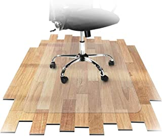Office and Home Office Chair Mat, 1.5-3mm Thick Non-slip Wooden Floor Protection Mat, 60 Sizes AGFXN (Color : 2mm, Size : ...
