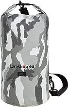 LURESHOP.EU RollTop Fishing Camo Waterproof Backpack – 20L Dry Bag – Airtight 3-Layer 500D PVC Tarpaulin – Single Shoulder Strap