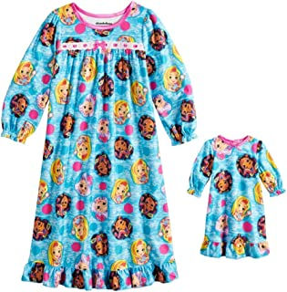 ae00efbd93 Ames Sunny Day Doll Girls Nightgown and Doll Gown Long Sleeve Night Shirt  Pjs Toddler