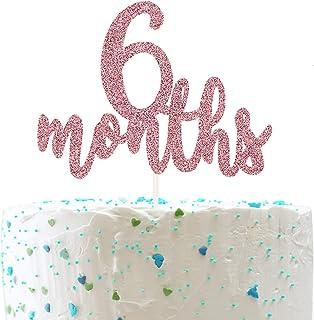 6 Months Cake Topper, Half 1/2 Birthday Cake Decorations,Half Birthday Party Decorations