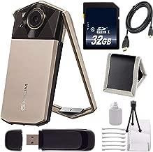 Casio Exilim EX-TR70 Selfie Digital Camera (Gold) (International Version) + 32GB Memory Card Bundle