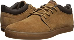 Dark Tan Pigskin Suede/Crepe Synthetic Leather