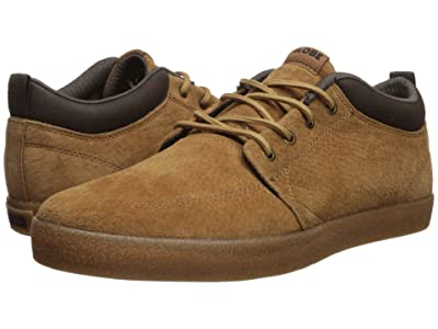 Globe GS Chukka (Dark Tan Pigskin Suede/Crepe Synthetic Leather) Men