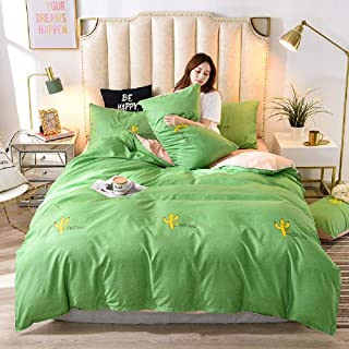 Simple Sanding Aloe Cotton 4-Piece Sheet And Quilt Cover Children's Dormitory 3-Piece Bedding Set