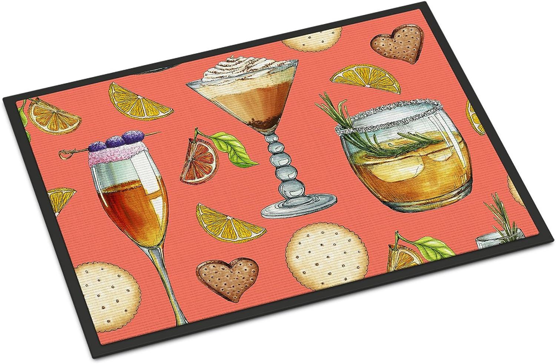 Caroline's Treasures BB5201JMAT Drinks & Cocktails Salmon Doormat, Multicolor, 24  H x 36  W
