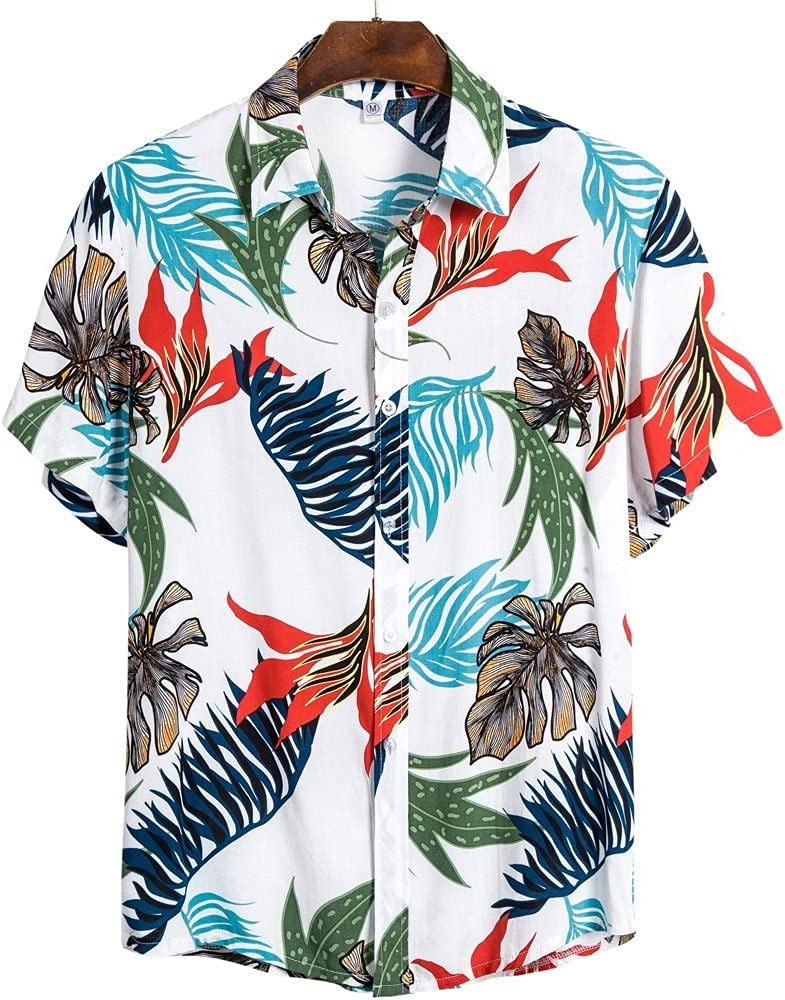 TJLSS New popularity Weekly update Ethnic Seaside Shirts Tropical To Men Floral Summer