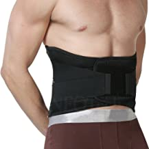 Neotech Care Back Brace - Lumbar Support Belt - Wide Protection, Adjustable Compression & Breathable - for Gym, Posture, Lifting, Work, Pain Relief - Black - Size M