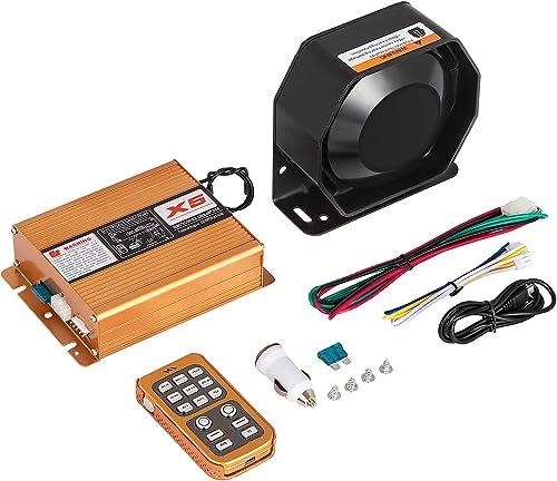 high quality Mophorn 400W online 18 Sound Loud Car Warning Alarm Police Siren popular Horn Speaker MIC System (400W 18 Sound) online sale
