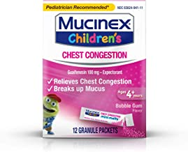 Chest Congestion, Mucinex Children's Mini Melts, Chest Congestion, Bubble Gum, 12ct (Packaging May Vary)