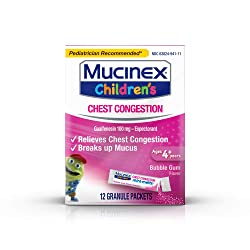 Chest Congestion, Mucinex Children's Mini Melts, Chest Congestion, Bubble Gum, 12ct (Packaging May V