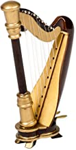 Miniature Wooden Harp Decorative Magnet, 3 1/2 Inches