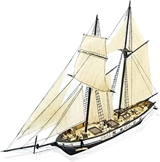 CAVEEN 1:130 DIY Ship Assembly Model Kits Classical Wooden Sailing Boat Scale Model Decoration 380x130x270mm