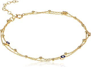 Alwan Silver (Gold Plated) Anklet for Women - EE5445SG