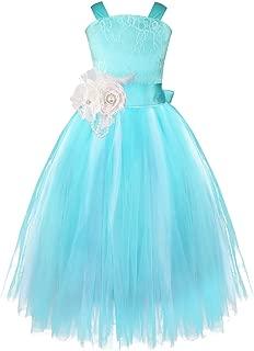 Girls Kids Crossed Back Bridesmaid Wedding Pageant Party Flower Girl Dress