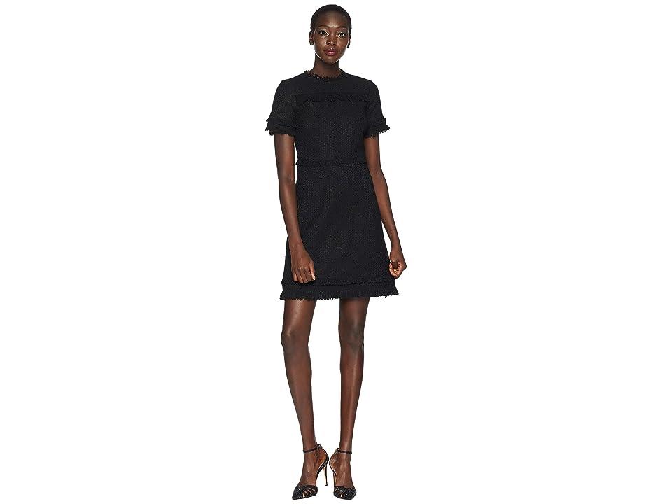 Kate Spade New York Wild Ones Western Tweed Dress (Black) Women