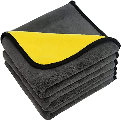 PrimAlite Microfiber Cleaning Cloth 800 GSM for Car & Motorbike- Pack of 3 (30 x 30 cm) for Home & Kitchen, Mobile, L...