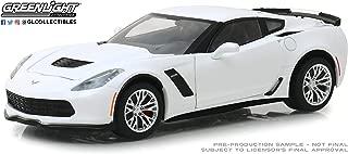 Greenlight 18250 1: 24 2019 Chevrolet Corvette Z06 Coupe - Arctic White - New Tooling, Multi