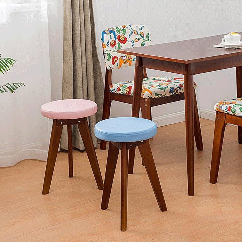 HLD Petit banc tabouret créatif en bois massif de haute qualité 48CM Chaises (Color : D) J