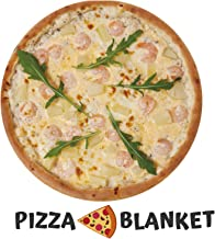 INNObeta Funny Food Blanket, Giant Pizza Throw Blanket,Round Wrap Pizza Blanket, Soft and Comfortable Flannel Pizza Blanket for Adult and Kids.(60inches)