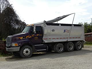Electric ALUMINUM Arm 4 Spring Dump Truck Flip Tarp System kit up to 23' bed w/1.5-HP MOTOR and MESH TARP
