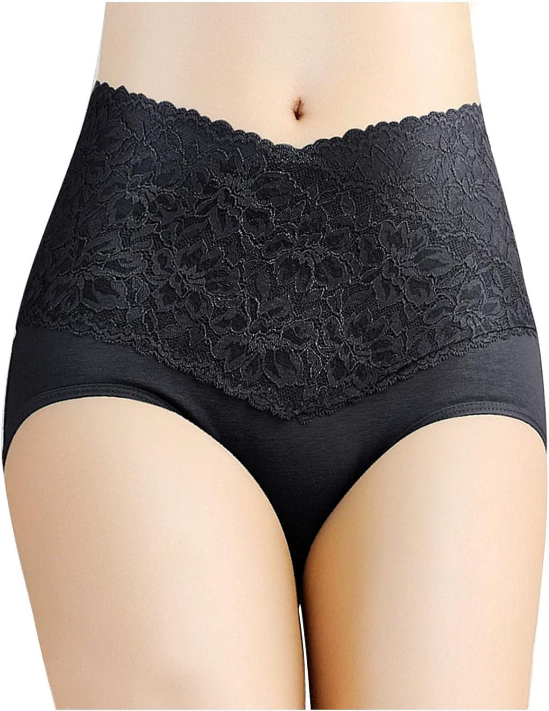Gwewei4df Womens Underwear Seamless High-Waist Max 70% OFF Lace Holes Mesh B Detroit Mall