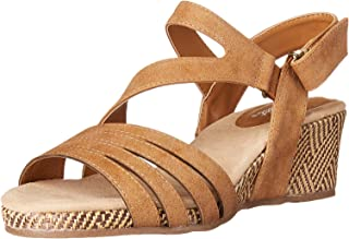 Easy Street womens Espadrille Wedge Sandal, Tan, 7.5 US