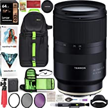 $879 » Tamron 28-75mm F/2.8 Di III RXD Full Frame E-Mount Lens (A036) for Sony Mirrorless with Deco Gear Pro Photography Sling Backpack Case Bundle + 67mm Filter Kit + 64GB Card + Software + Accessories
