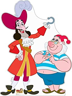 Advanced Graphics Captain Hook and Mr. SMEE Life Size Cardboard Cutout Standup - Disney Junior's Jake and The Never Land Pirates