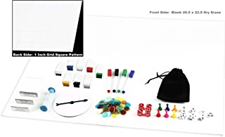 Make Your Own Game Board Kit Dry Erase 23x26 Foldable Gameboard Set Complete With Game Pieces Timer Blank Cards Markers Pawns Spinner and Dice - Perfect for Game Prototyping and Development or RPG Gam