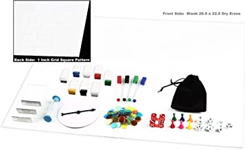 Make Your Own Game Board Kit Dry Erase 23x26 Foldable Gameboard Set Complete With Game Pieces Timer Blank Cards Markers Pawns Spinner and Dice - Perfect for Game Prototyping Development or DnD Game