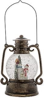 Snowman Family Lantern 11 Inch Tabletop Holiday Glitter Dome Snowglobe