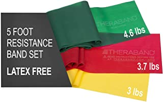 TheraBand Resistance Bands Set, Professional Non-Latex Elastic Band For Upper & Lower Body Exercise, Strength Training wit...