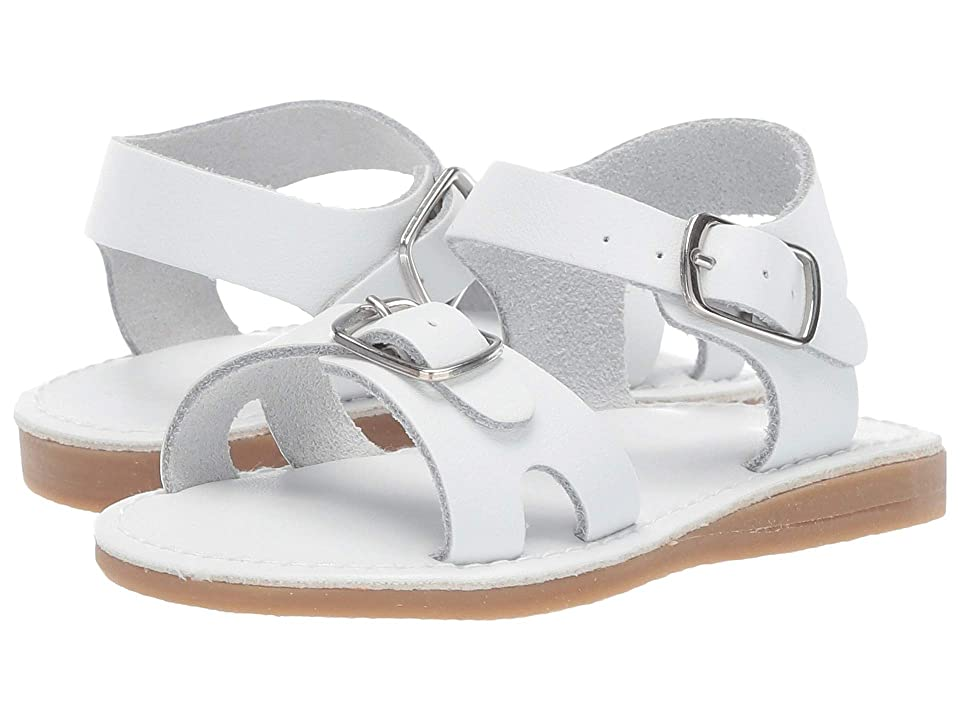 Baby Deer Classic Leather Sandal Walk (Infant/Toddler) (White) Girls Shoes