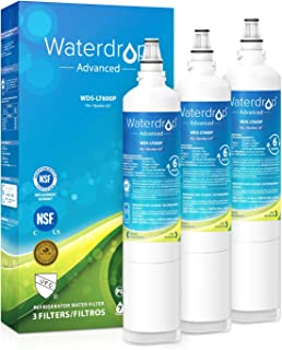 Waterdrop 5231JA2006A NSF 53&42 Certified Refrigerator Water Filter, Compatible with LG LT600P, 5231JA2006A, 5231JA2006B, Kenmore 9990, 5231JA2006E, 5231JA2006F, 469990, 46-9990, Reduces Lead, 3 Pack