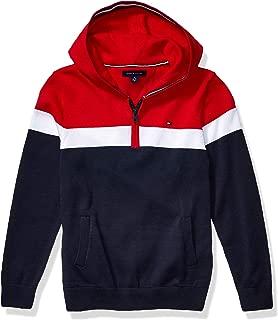 Boys' Adaptive Sweater with Hood and Half Zip Closure