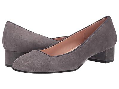 French Sole Dukemu Block Kitten Heel (Grey Suede) Women