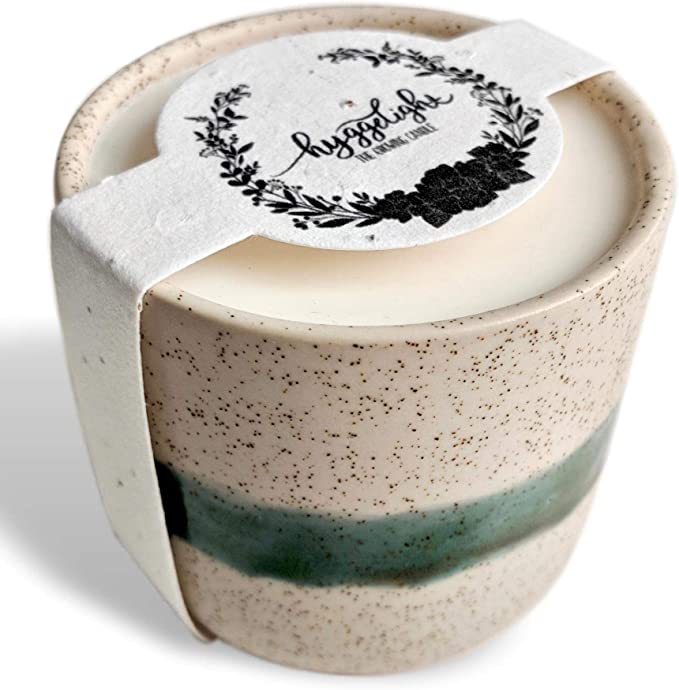 ceramic pot with candle