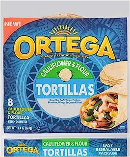 Ortega Tortillas, Cauliflower & Flour, 11.4 Oz, 1130120