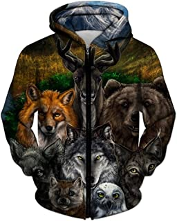 0fa50d79 Animal Printed Zipper Hoodies 3D Hoodies Men Unisex Sweatshirts Autumn  Pullover Casual Tracksuits