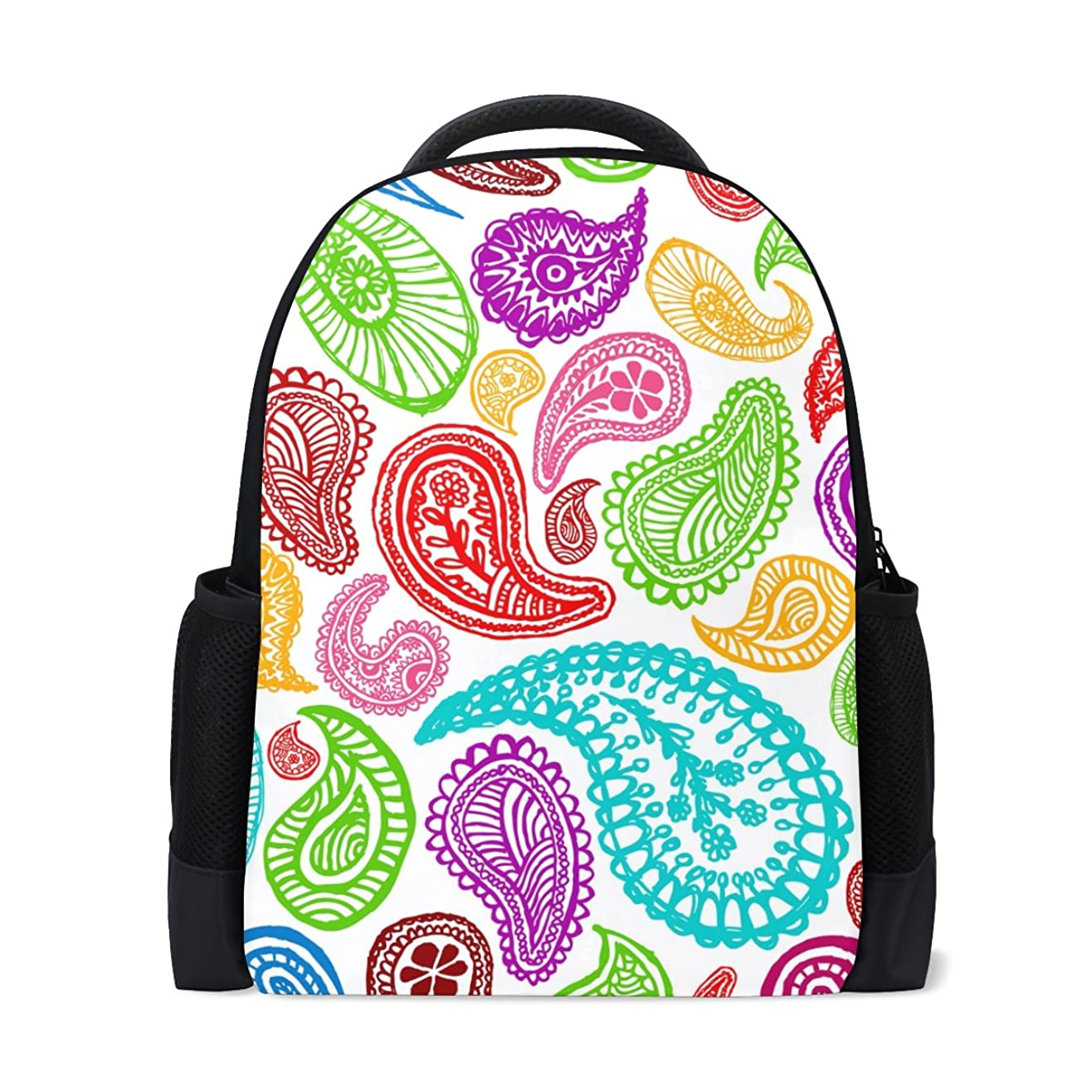 長さ労苦波AOMOKI リュックサック バッグ 男女兼用 メンズ レディース 通勤 通学 大容量 花柄 虹色 カラフル