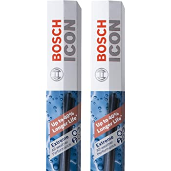 Bosch Automotive ICON Wiper Blades 22A22B (Set of 2) Fits Buick: 2010-05 Allure, Chevrolet Challenger, Ford: 2010-08 F-250, Nissan More, Up to 40 percent Longer Life, Frustration Free Packaging