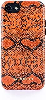 Karen Millen Fashion Faux Python Skin case for iPhone 8/7 - Orange