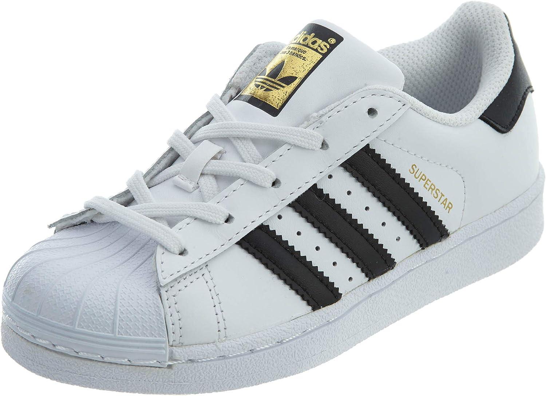 adidas Kids Superstar C Basketball Shoes BA8378 White/Black